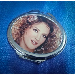 Зеркальце карманное в форме овала с вашим фото на крышке