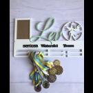 Рамка для медалей фехтование